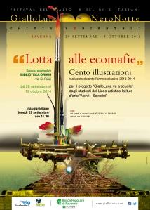 Il manifesto della mostra creato da Mauro Monaldini