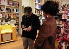 Bortolotti con una lettrice