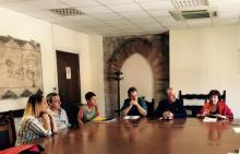 L'assessore alla cultura del Comune di Ravenna, Elsa Signorino (a destra), con i direttori artistici Nevio Galeati e Franco Calandrini. A sinistra Maria Martinelli, Albert Bucci e Valentina Scentoni di StartCinema