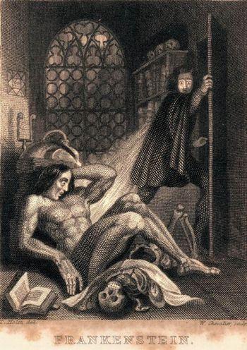 frontespizio romanzo Frankenstein
