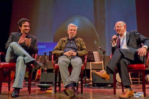 La chiacchierata con Sironi e Fabbri, sul palcoscenico del Socjale